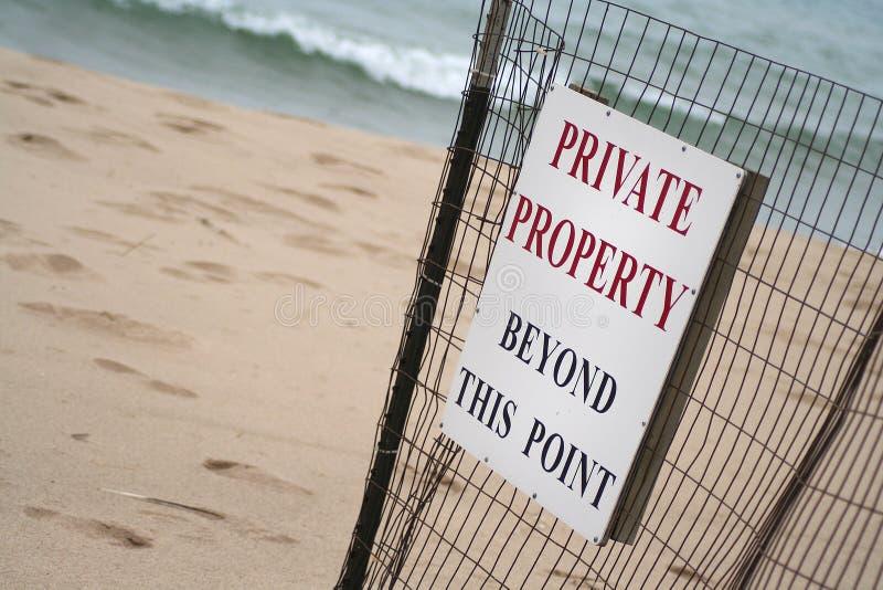 Download Muestra De La Propiedad Privada De La Playa Imagen de archivo - Imagen de propiedad, fijado: 1281387