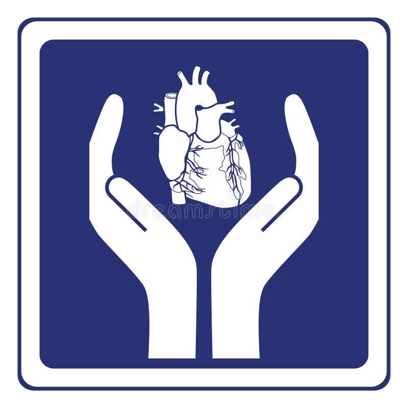 Muestra de la protección del corazón stock de ilustración