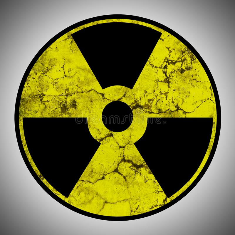 Muestra de la radiación con textura del grunge imágenes de archivo libres de regalías
