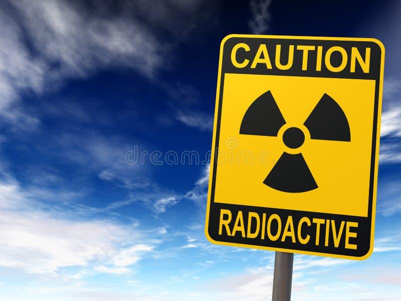 Muestra de la radiactividad ilustración del vector