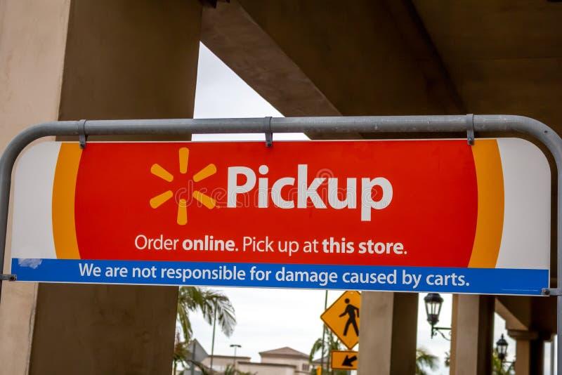Muestra de la recogida de Walmart imagen de archivo libre de regalías