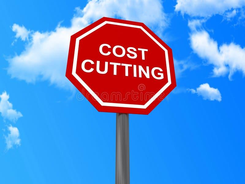 Muestra de la reducción de los costes stock de ilustración