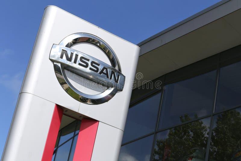 Muestra de la representación de Nissan fotografía de archivo