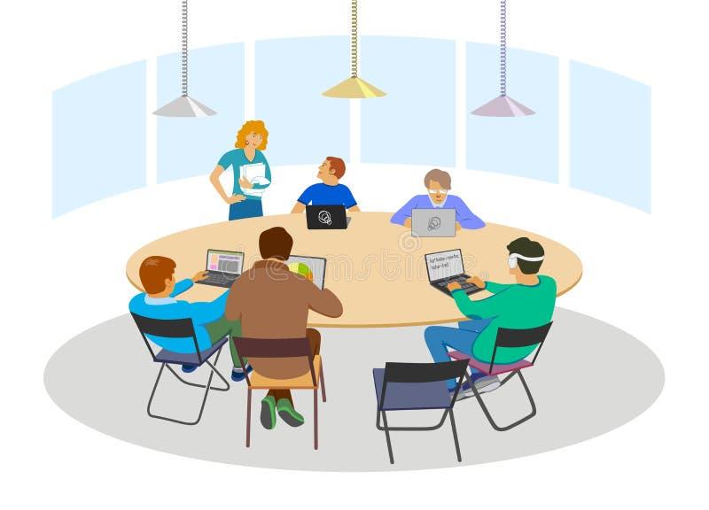 Muestra de la reunión de negocios ilustración del vector