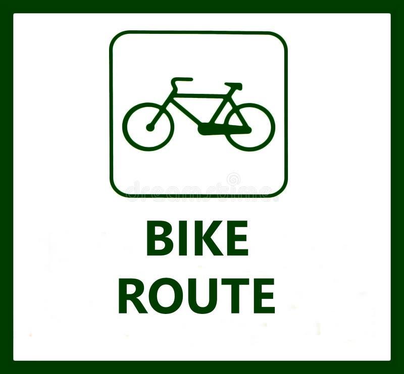 Muestra de la ruta de la bici en el fondo blanco libre illustration