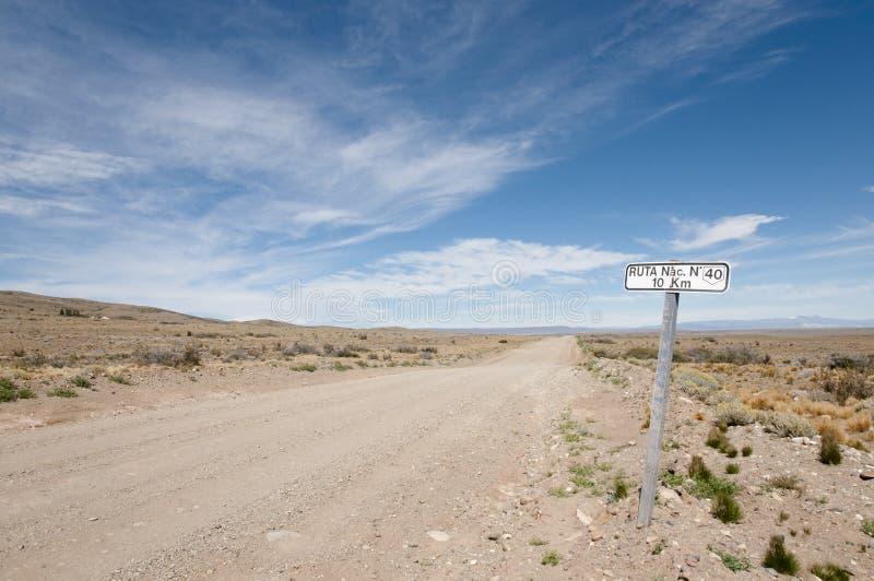 Muestra de la ruta 40 - Patagonia - la Argentina fotografía de archivo libre de regalías