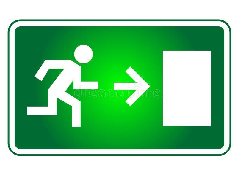 Muestra de la salida de emergencia stock de ilustración