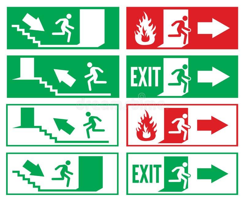 Muestra de la salida de emergencia libre illustration