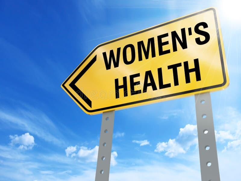 Muestra de la salud del ` s de las mujeres stock de ilustración