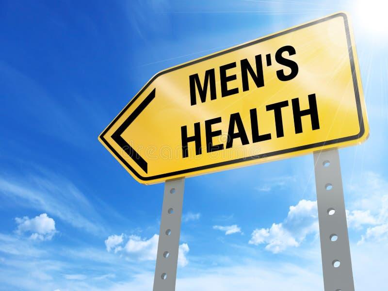 Muestra de la salud del ` s de los hombres stock de ilustración