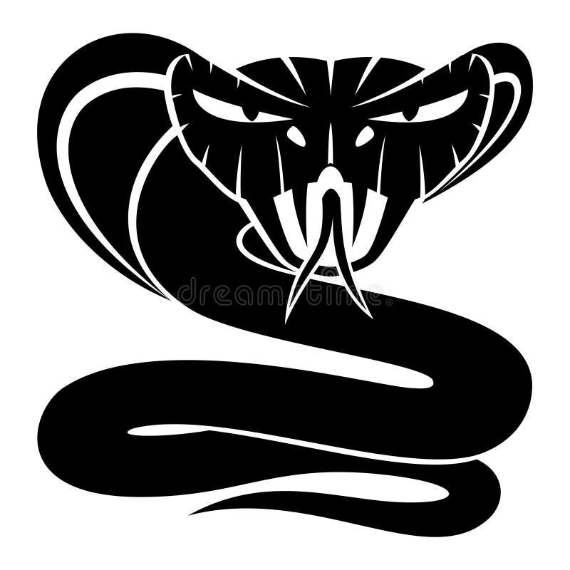Muestra de la serpiente de la cobra stock de ilustración