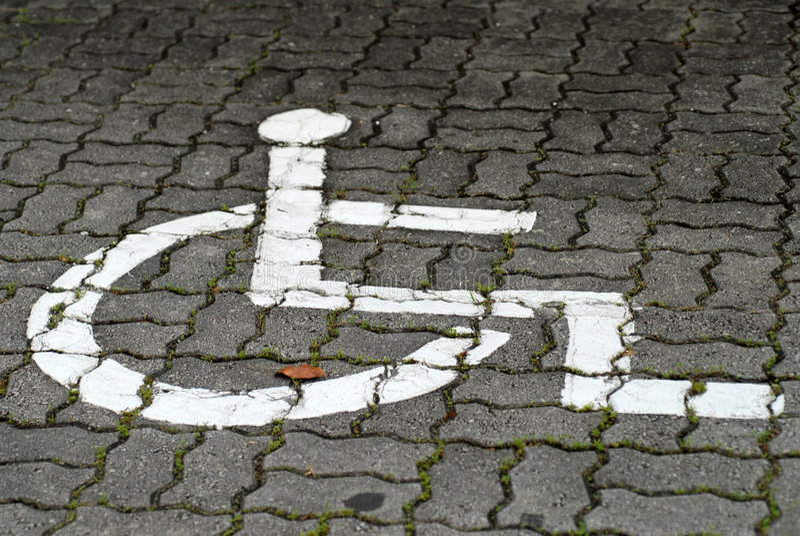 Muestra de la silla de rueda foto de archivo libre de regalías