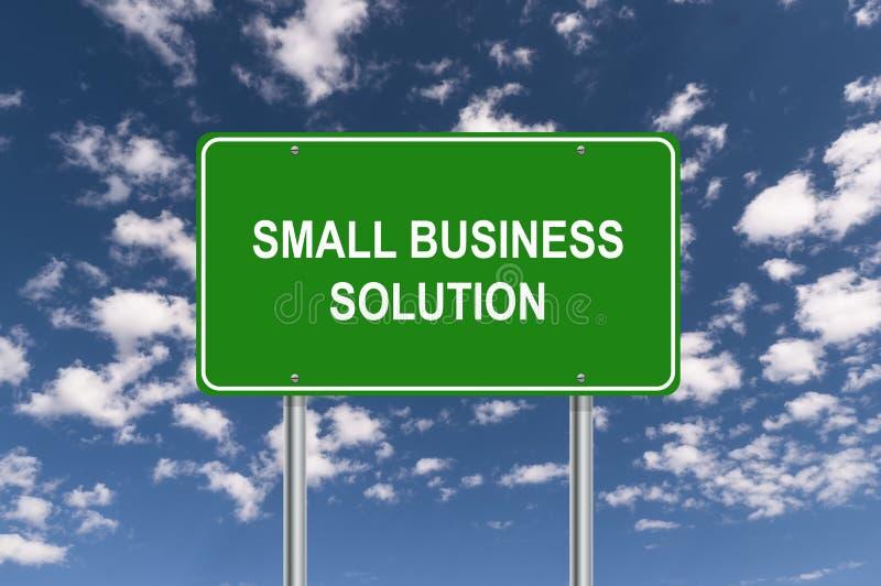 Muestra de la solución de la pequeña empresa stock de ilustración