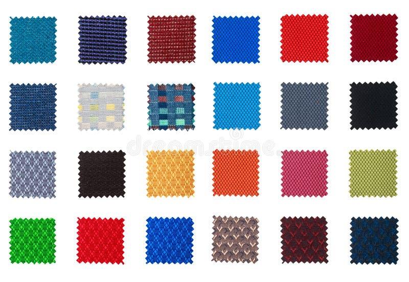 Muestra de la tela aislada en blanco imagen de archivo libre de regalías
