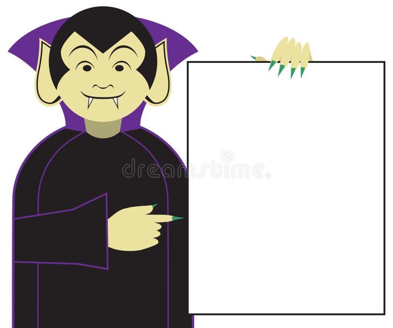 Muestra de la tenencia del vampiro de la historieta ilustración del vector