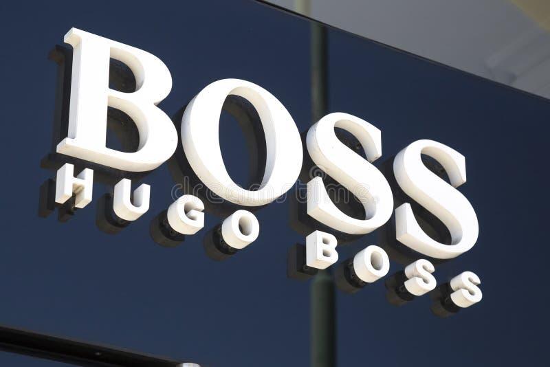 Muestra de la tienda de Hugo Boss foto de archivo libre de regalías