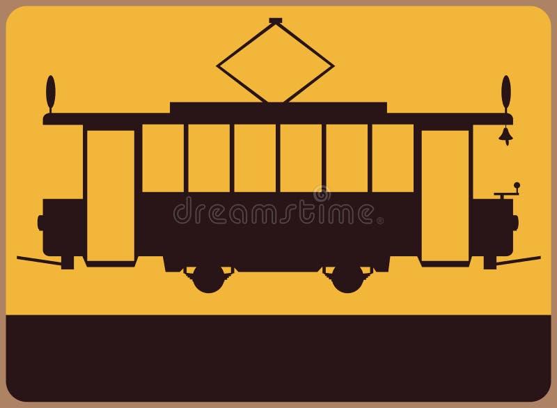 Muestra de la tranvía del vintage. libre illustration