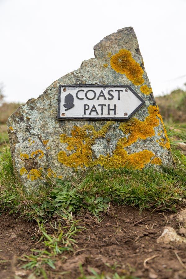 Muestra de la trayectoria de la costa fotos de archivo