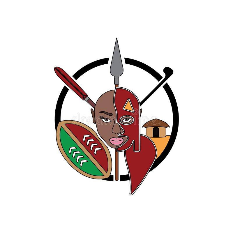 Muestra de la tribu de Maasai libre illustration