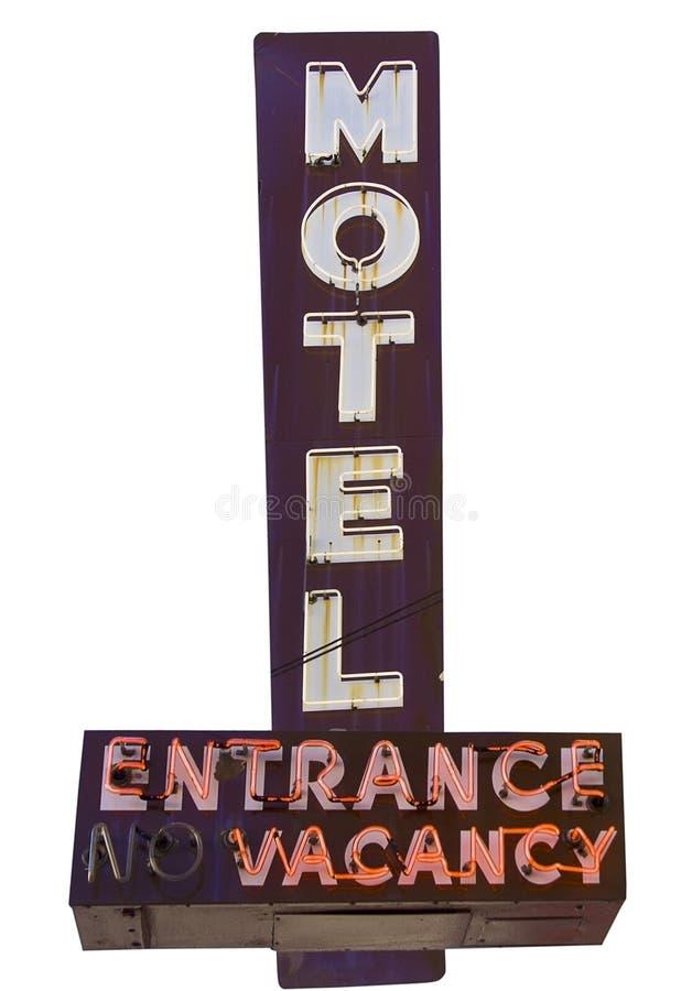Muestra de la vacante del motel imagenes de archivo