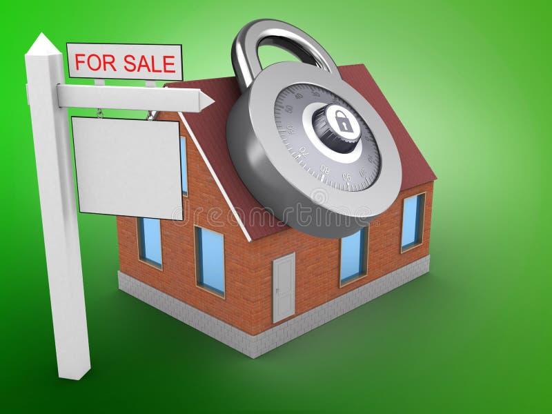 muestra de la venta 3D stock de ilustración