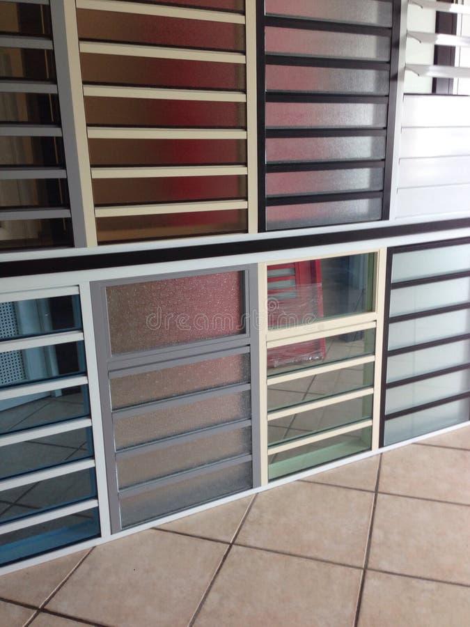 Muestra de la ventana de la seguridad foto de archivo libre de regalías