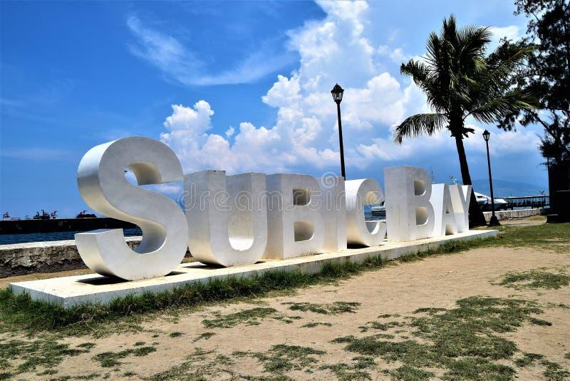 Muestra de la zona del puerto franco de Subic Bay imagenes de archivo