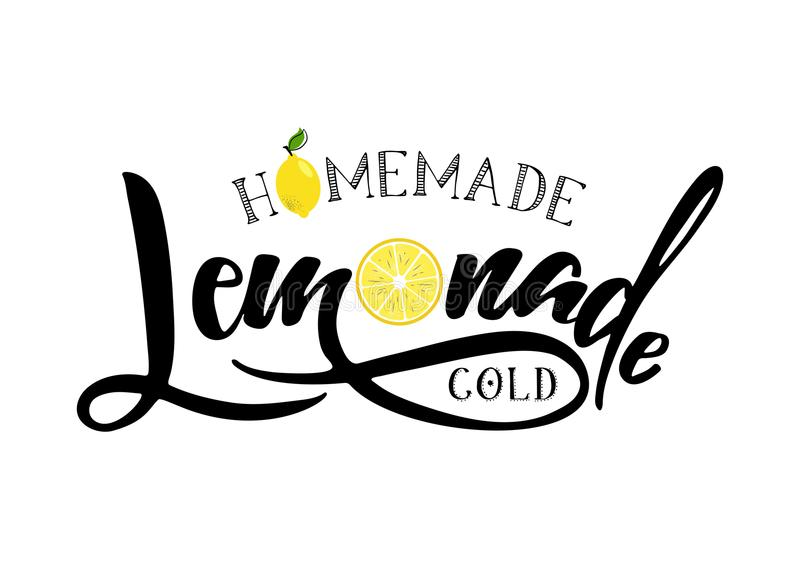 Muestra de las letras de la limonada stock de ilustración
