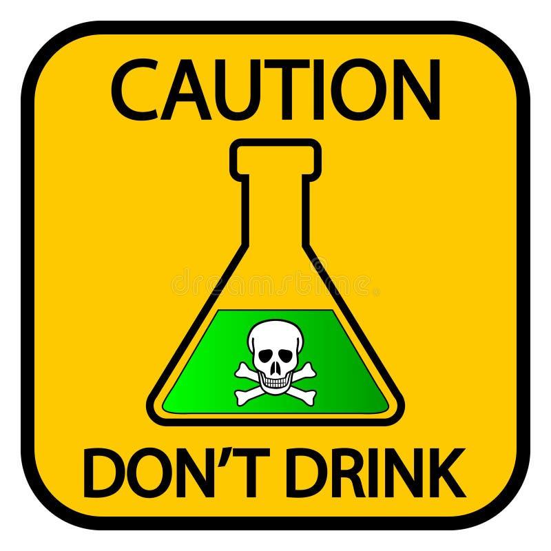 Muestra de las sustancias químicas del peligro ilustración del vector