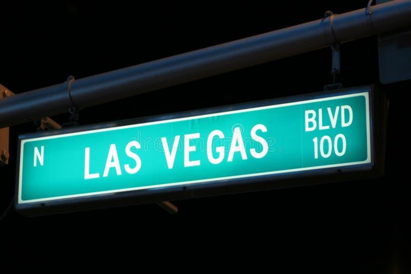 Muestra de Las Vegas Boulevard imagen de archivo libre de regalías