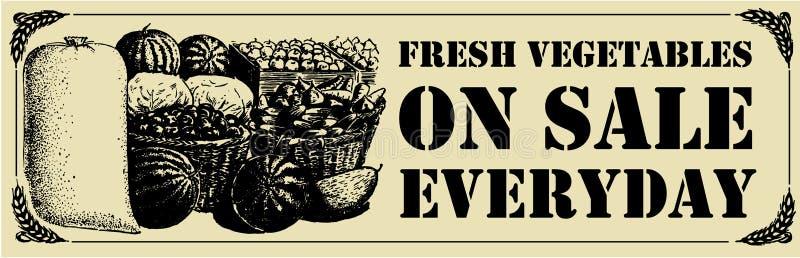 Muestra de las verduras frescas stock de ilustración