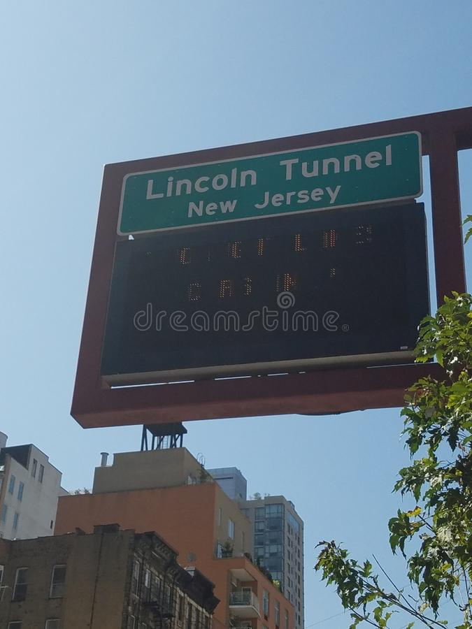 Muestra de Lincoln Tunnel imágenes de archivo libres de regalías