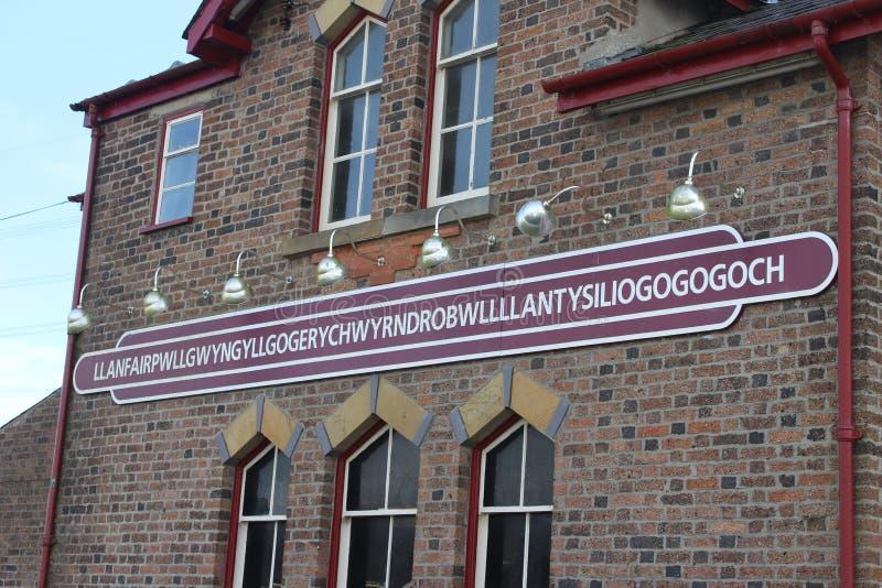 Muestra de Llanfairpwllgwyngyll imágenes de archivo libres de regalías