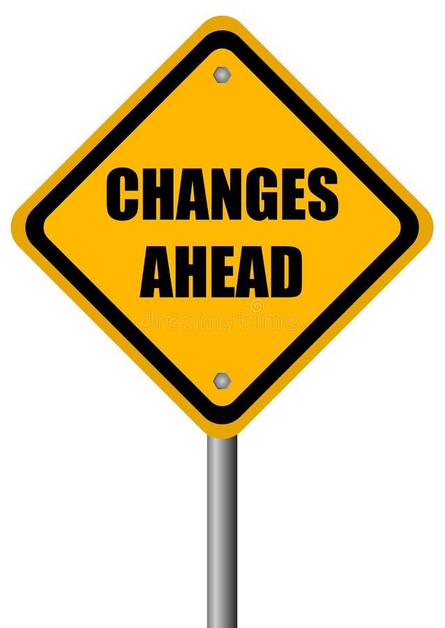 Muestra de los cambios a continuación stock de ilustración