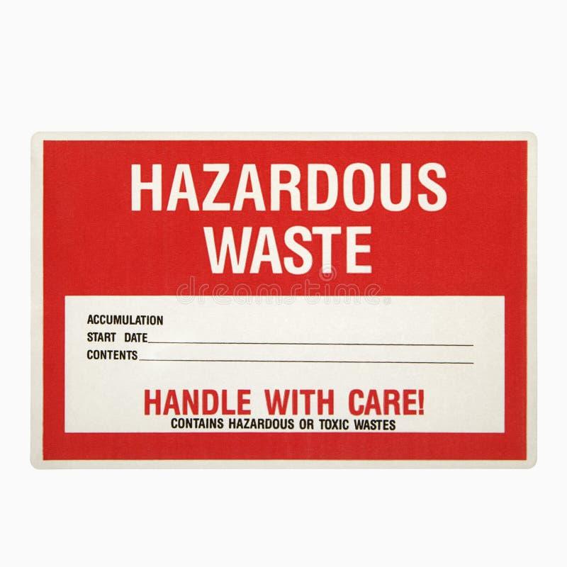 Muestra de los desechos peligrosos. foto de archivo libre de regalías