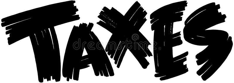 Muestra de los impuestos ilustración del vector