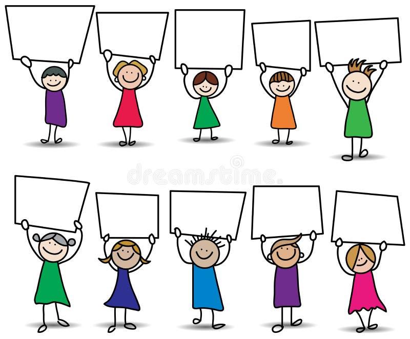 Muestra de los niños ilustración del vector