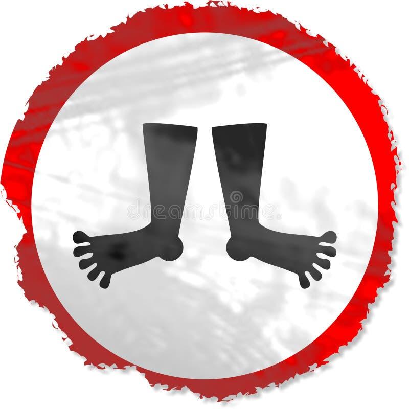 Muestra de los pies de Grunge libre illustration