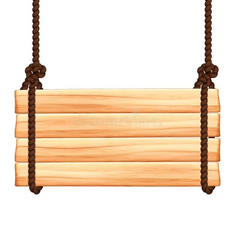 Muestra de madera stock de ilustración