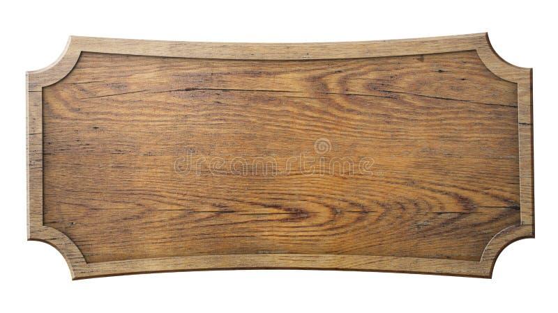 Muestra de madera aislada en blanco fotos de archivo libres de regalías