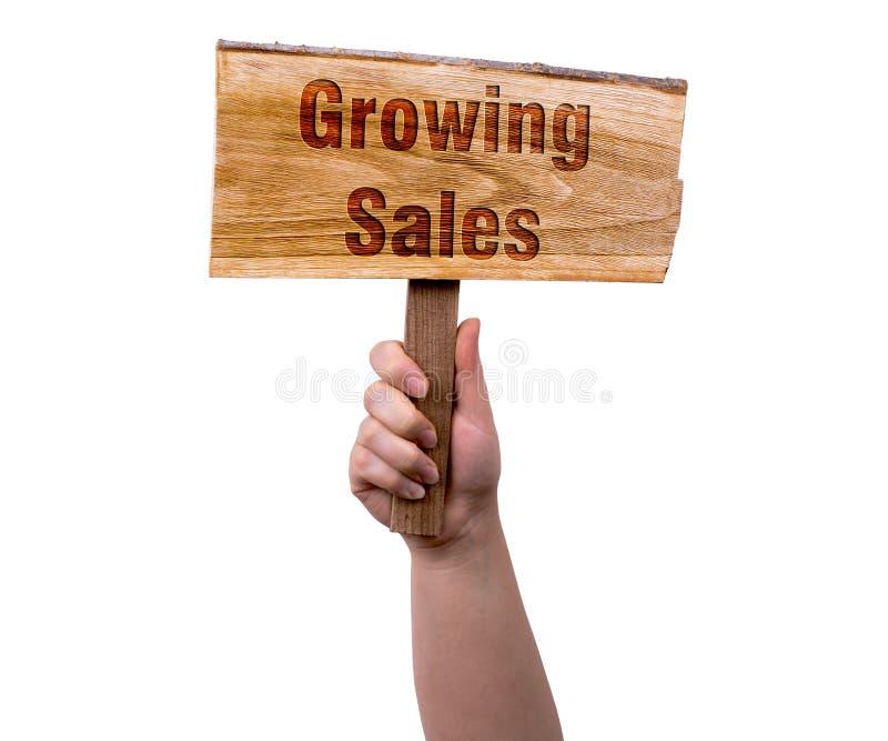 Muestra de madera cada vez mayor de las ventas imagenes de archivo