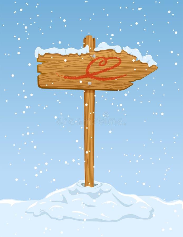 Muestra de madera con el corazón libre illustration