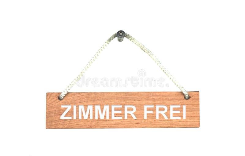 Muestra de madera con la cuerda: Alemán disponible del sitio foto de archivo libre de regalías