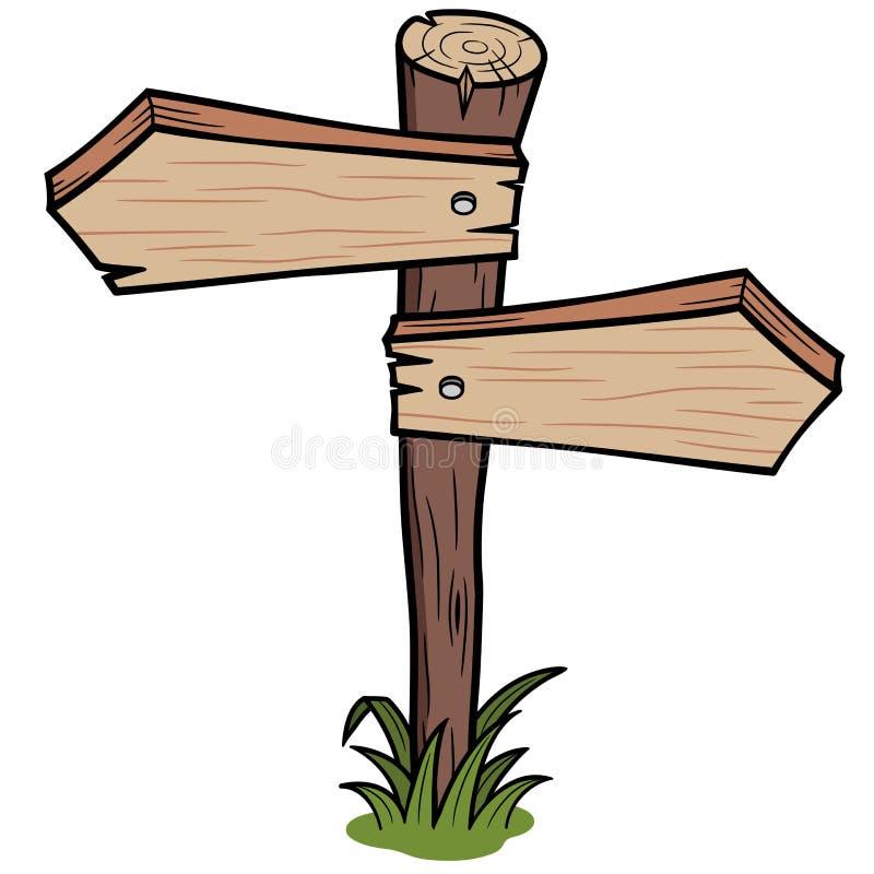 Muestra de madera de las flechas libre illustration