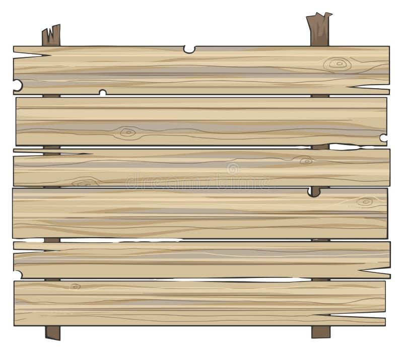 Muestra de madera de los tablones ilustración del vector