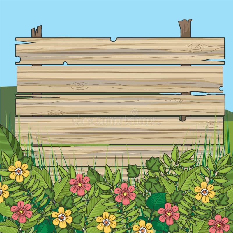 Muestra de madera de los tablones libre illustration
