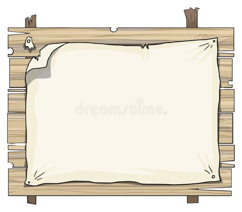 Muestra de madera de los tablones stock de ilustración