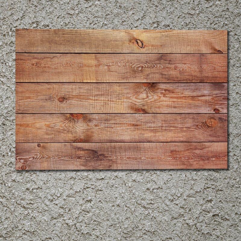 Muestra de madera del vintage en el muro de cemento del estuco. imagenes de archivo