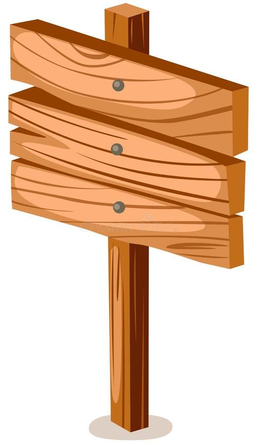 Muestra de madera en blanco libre illustration