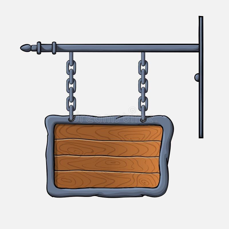 Muestra de madera medieval ilustración del vector